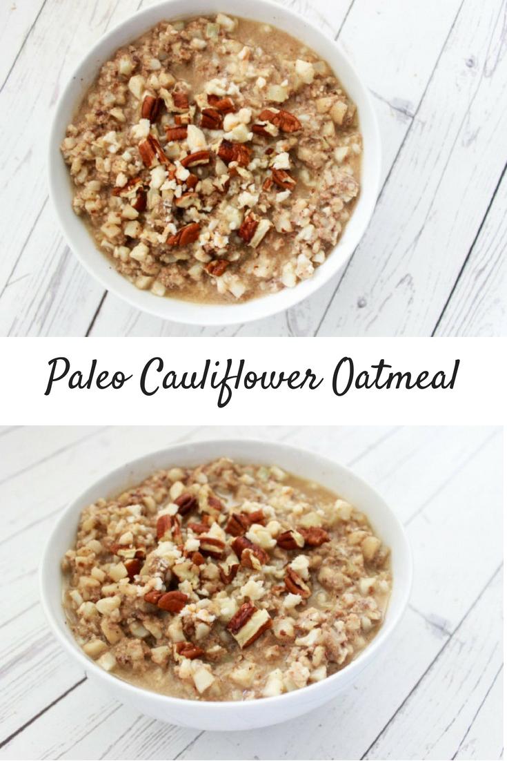 Paleo Cauliflower Fake Oatmeal
