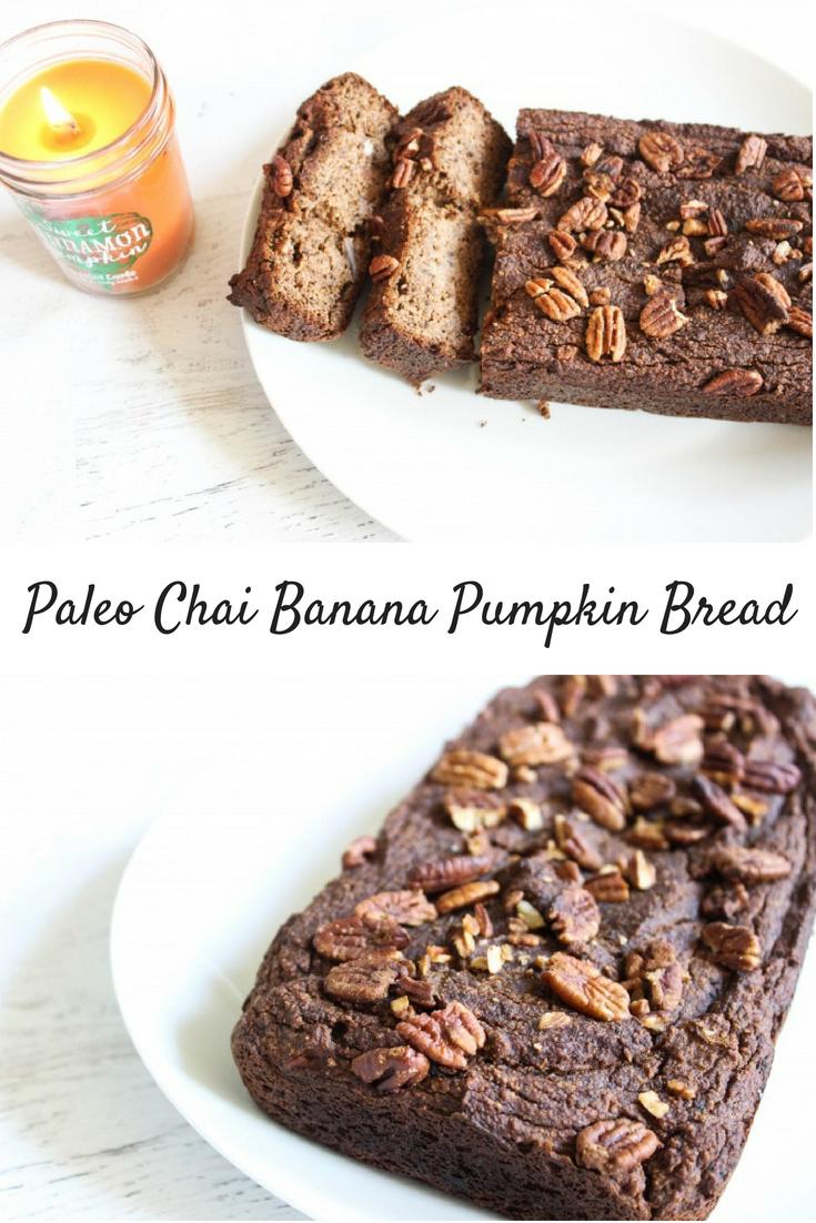 Paleo Chai Banana Pumpkin Bread