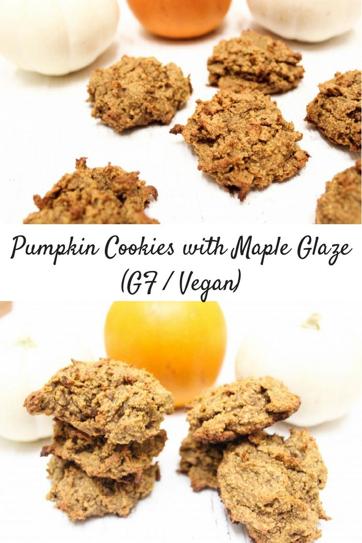 Fluffy Pumpkin Cookies with Spiced Maple Glaze (V, GF)