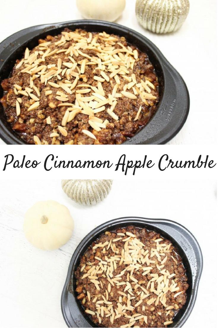 Paleo Cinnamon Apple Crumble (Gluten-free / Vegan)