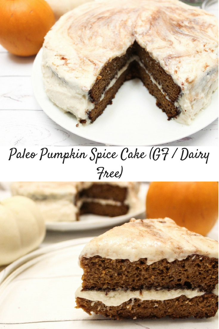 "Pumpkin Spice Cake with Cinnamon ""Cream Cheese"" Frosting (Gluten-free / Dairy-free)"