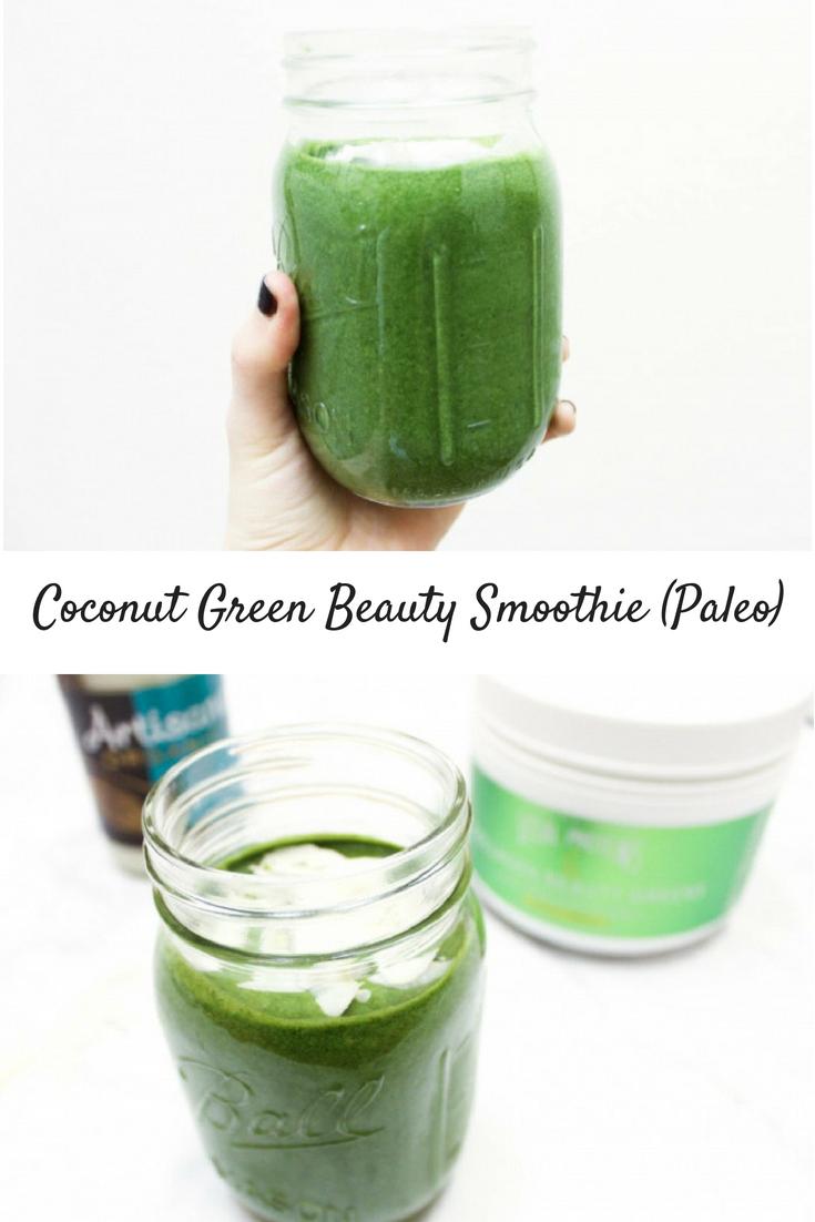 Creamy Coconut Green Beauty Smoothie (Paleo)
