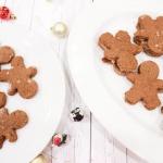 Paleo / Vegan Gingerbread Man Cookie Sandwiches