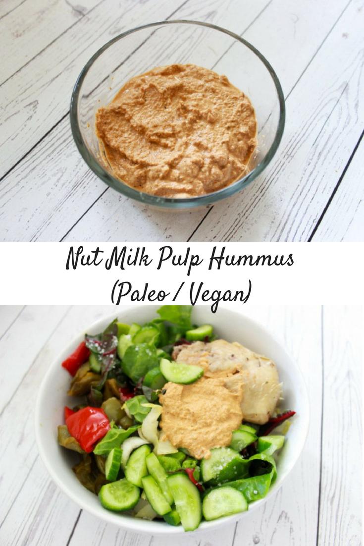 """Paleo / Vegan Nut Milk Pulp """"Hummus"""""""