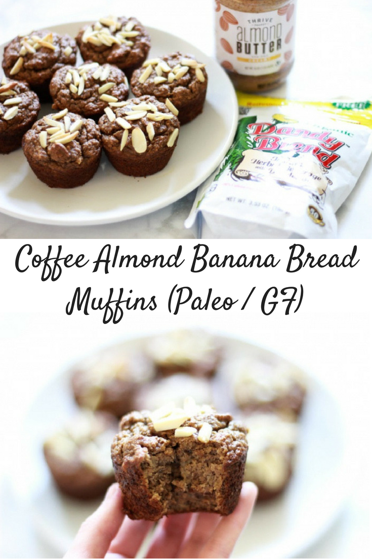 Caffeine-Free Coffee Almond Banana Bread Muffins (Sugar-Free / Paleo / Low-FODMAP / SCD)