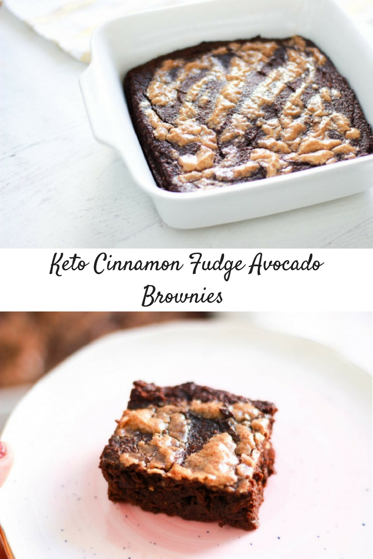 Keto Cinnamon Fudge Avocado Brownies (Paleo)