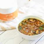 Instant Immune-Boosting Golden Bone Broth Mushroom Soup (Paleo)