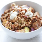 Sweet Cinnamon Veggie Pecan Scramble (Paleo / Sugar-Free / Keto / Candida-Friendly)