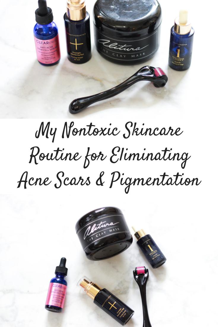 My Nontoxic Skincare Routine to Eliminate Scarring & Pigmentation