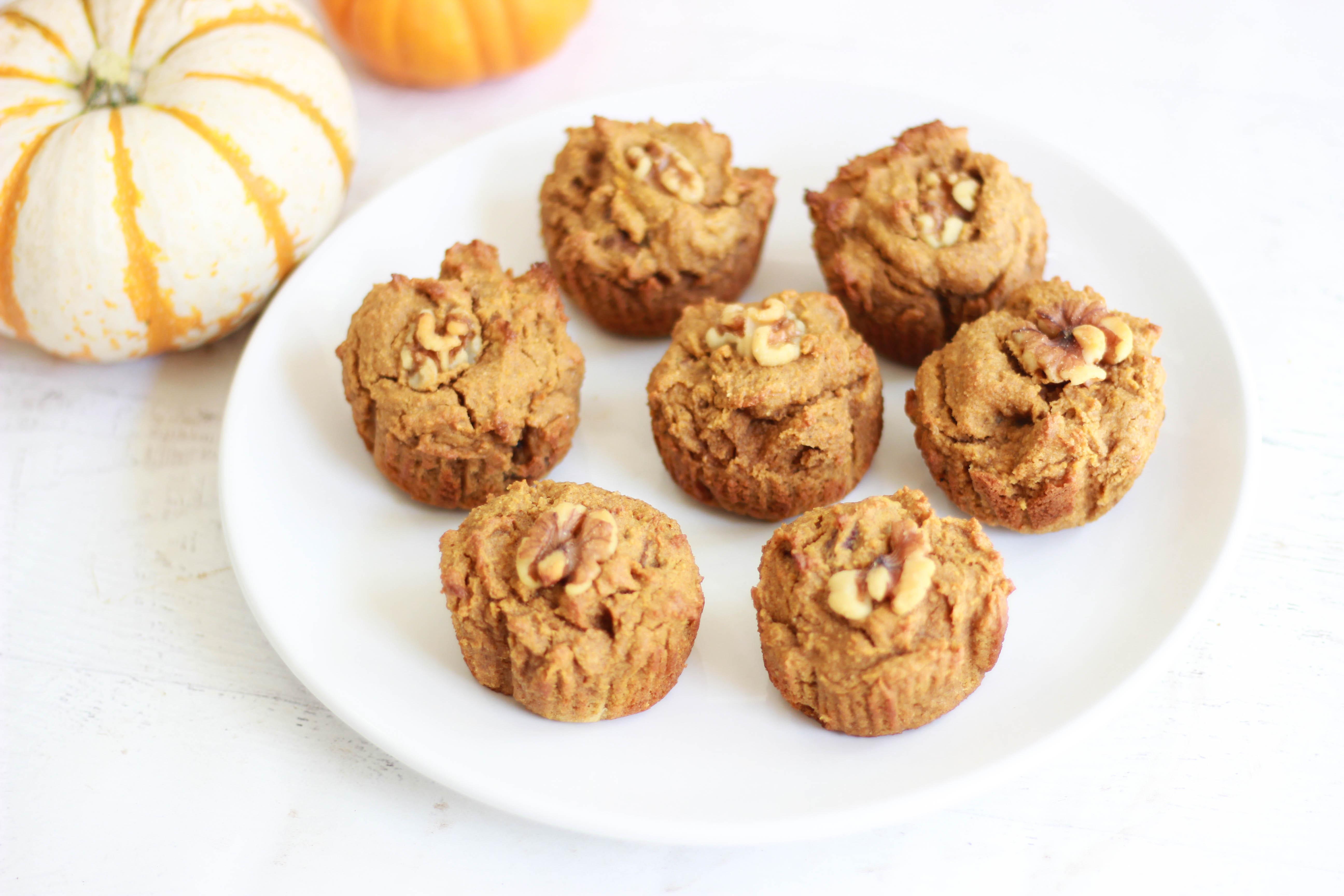 Pumpkin Walnut Muffins (Sugar-Free / Paleo)