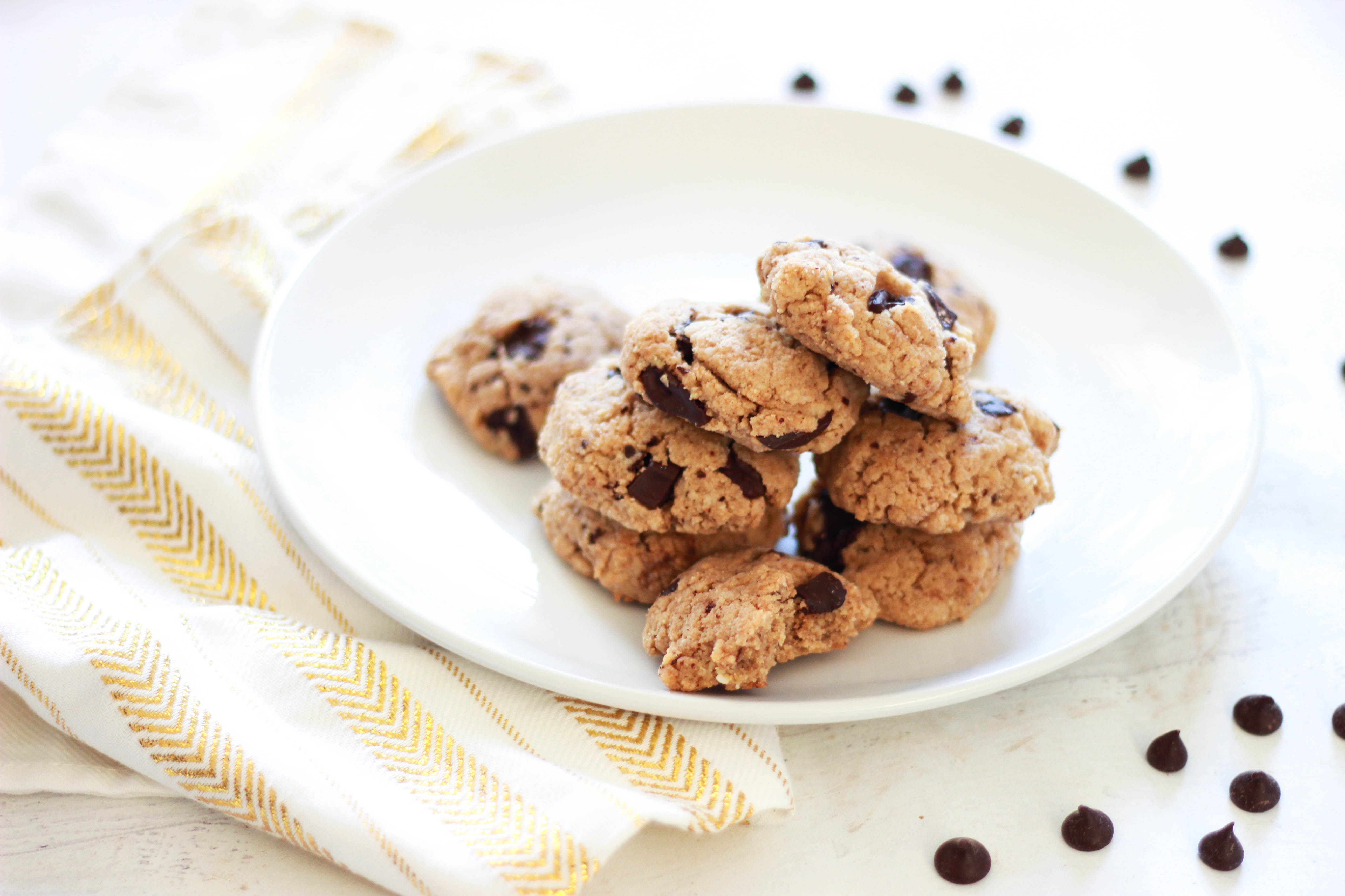 Sugar-Free / Paleo / Keto Chocolate Chip Cookies