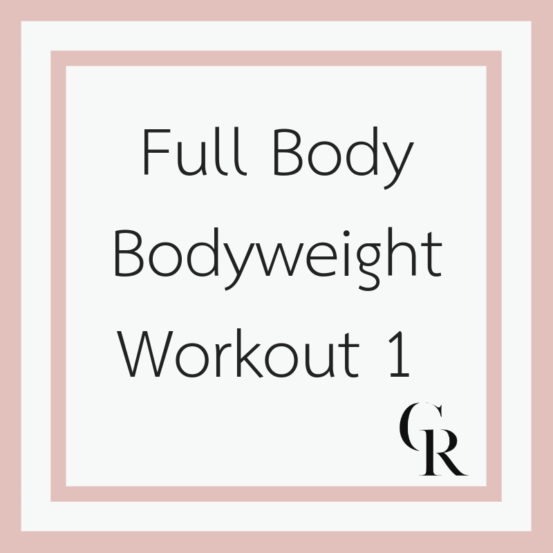 Full Body Low Impact Bodyweight Workout 1