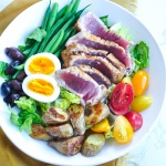 Paleo Seared Ahi Tuna Nicoise Salad (Become a Member for Access)