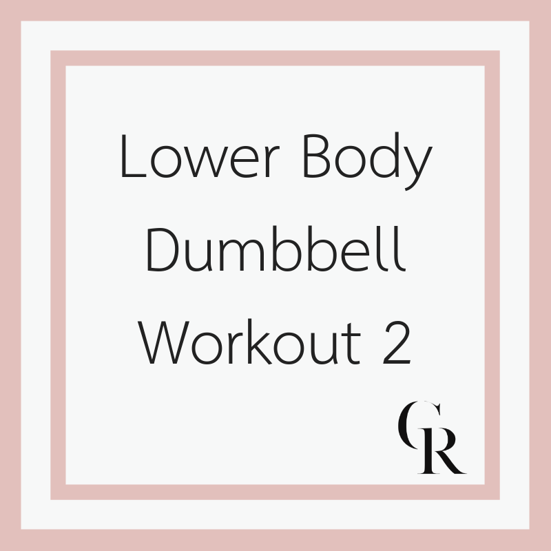 Lower Body Dumbbell Workout 2