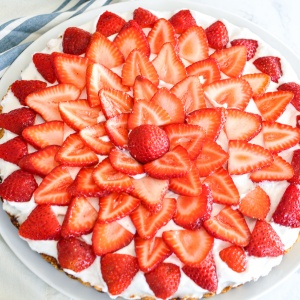 Paleo Strawberry Cream Tart (Become a Member for Access)