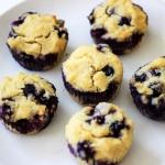 Sweetener-Free Paleo Lemon Blueberry Muffins