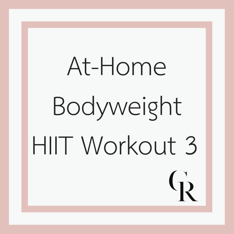 At-Home Bodyweight HIIT Workout 3