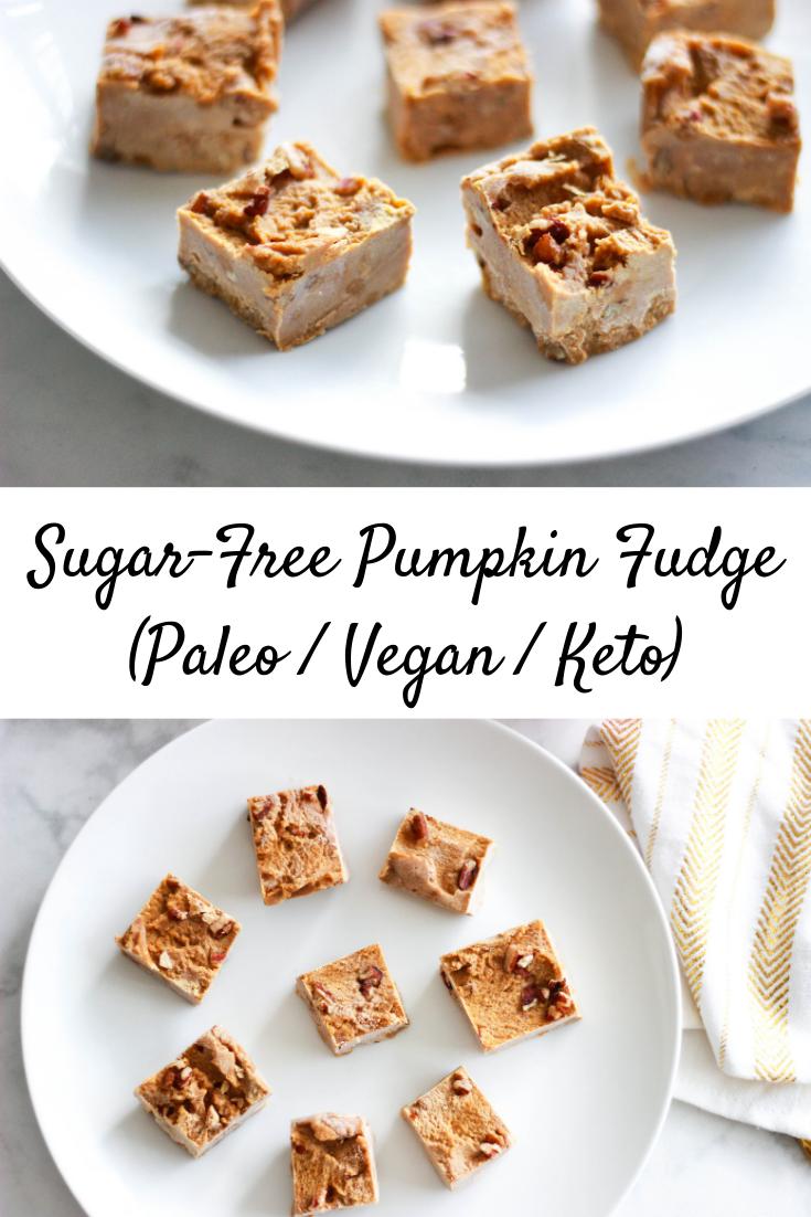 Sugar-Free Pumpkin Fudge (Paleo / Vegan / Keto)