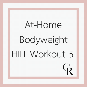 At-Home Bodyweight HIIT Workout 5 (Become a Member for Access)