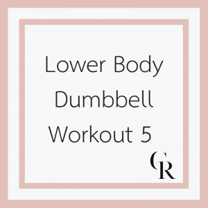 Lower Body Dumbbell Workout 5 (Become a Member for Access)