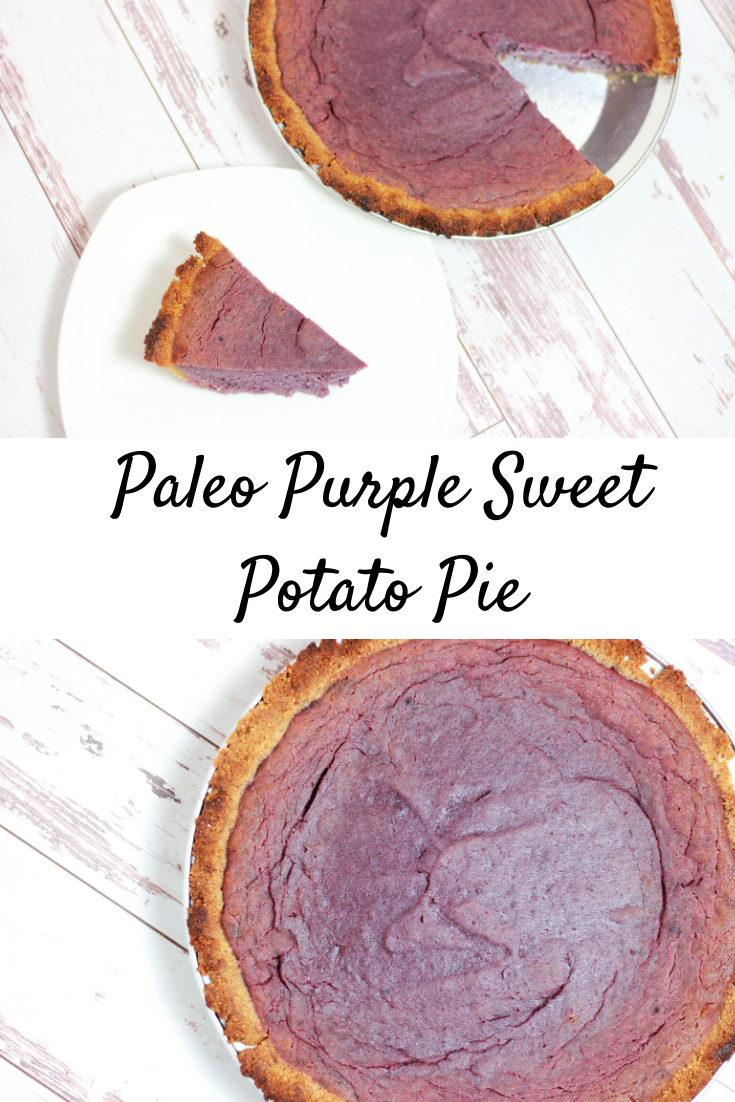 Paleo Purple Sweet Potato Pie