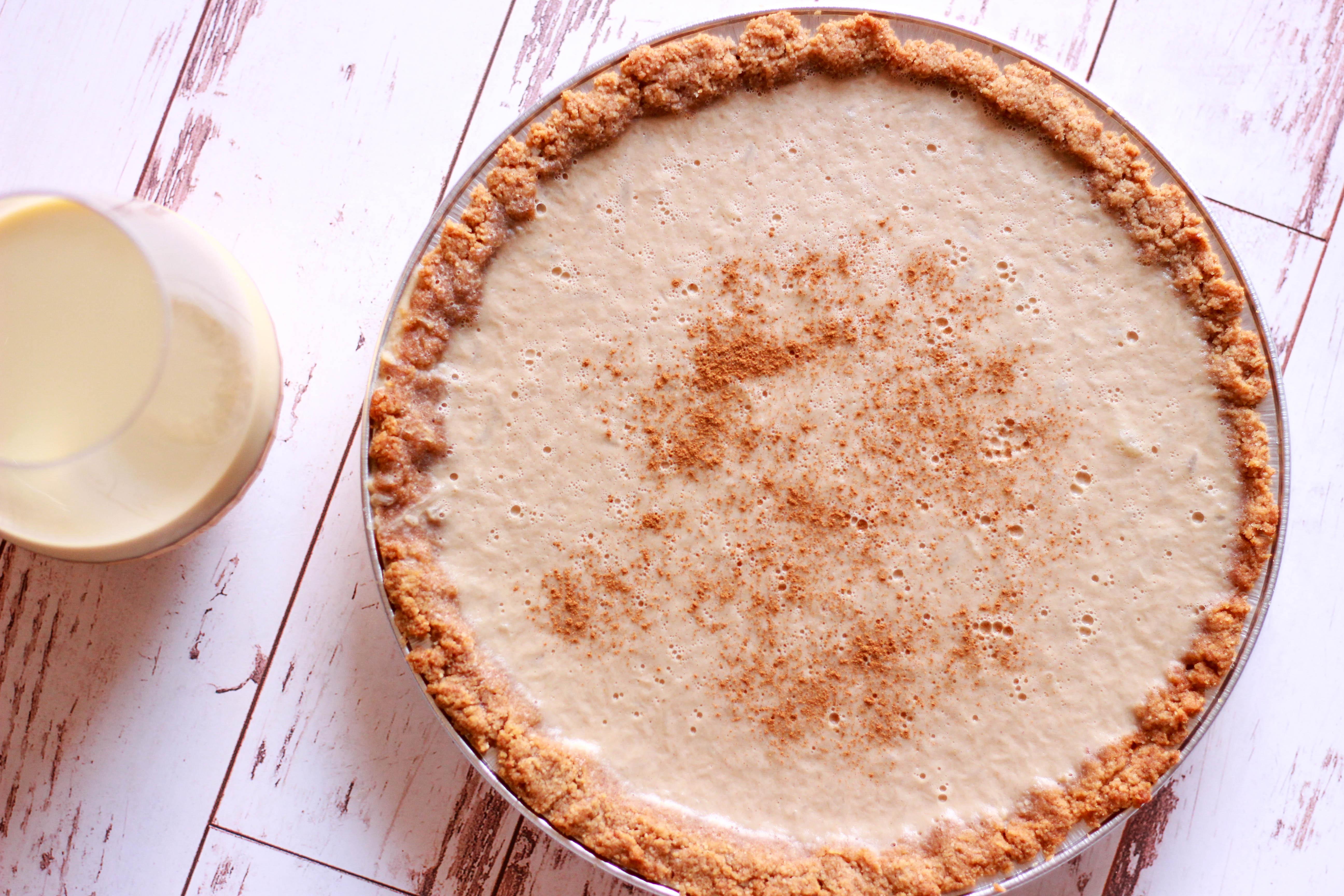 Paleo / Keto Eggnog Pie