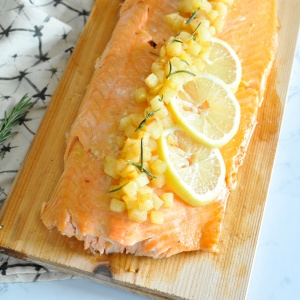 Paleo Honey Mustard Glazed Salmon with Apple Chutney (Become a Member for Access)