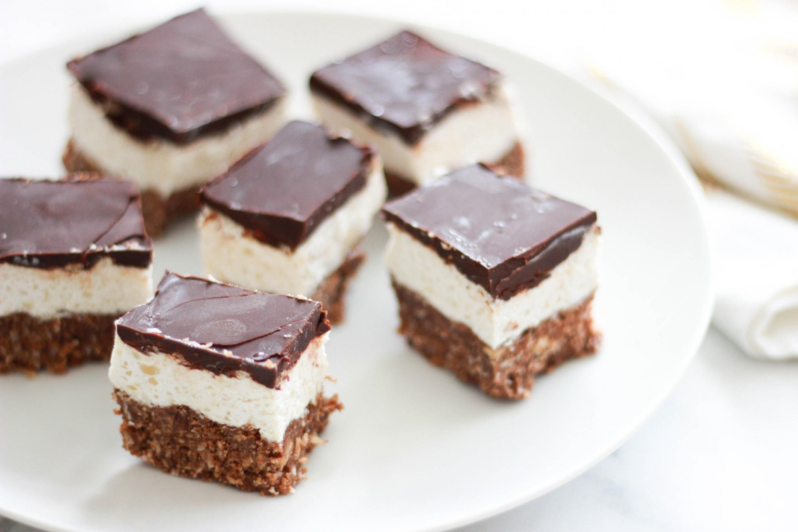 Paleo / Vegan / Sugar-Free Nanaimo Bars