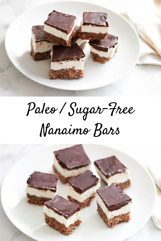 Paleo / Sugar-Free Nanaimo Bars