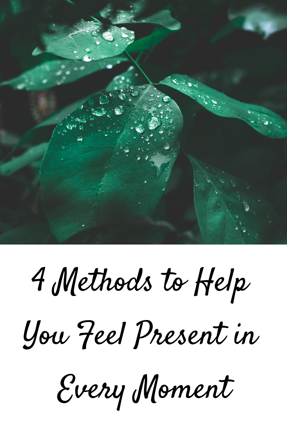 4 Methods to Help You Feel Present in Every Moment